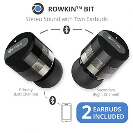 Rowkin-Bit-Charge-Stereo-Truly-Wireless-Headphones-wPortable-Charger-Bluetooth-Earbuds-Smallest-Cordless-Hands-free-Mini-Earphones-Headset-w-Mic-Noise-Reduction-for-Running-iPhone-Space-Gray-0-0