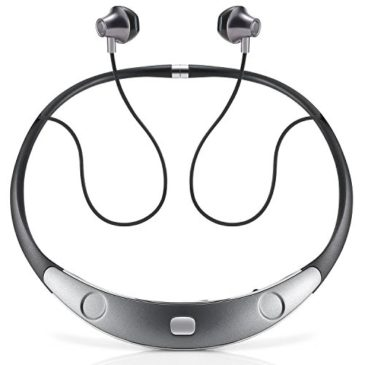 Bluetooth Headset Call Vibrate Alert HiFi Wireless Neckband Headphones Stereo Noise Reduction Earbuds w/ Mic by Audioxa (Gray)