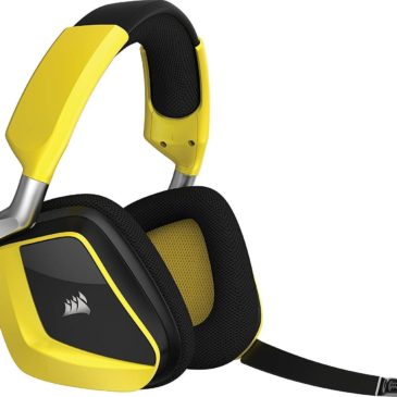 CORSAIR Void PRO RGB Wireless Gaming Headset – Dolby 7.1 Surround Sound Headphones for PC – Discord – 50mm Drivers – Yellow (Renewed)