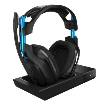 ASTRO Gaming A50 Wireless Dolby Gaming Headset for PlayStation 4 & PC – Black/Blue (2017 Model)