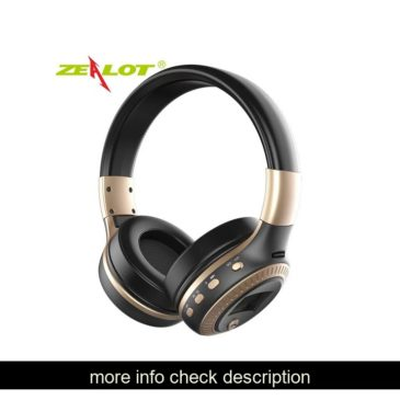 ZEALOT B19 Headphones LCD Display HiFi Bass Stereo Earphone Bluetooth Wireless Headset With Mic FM