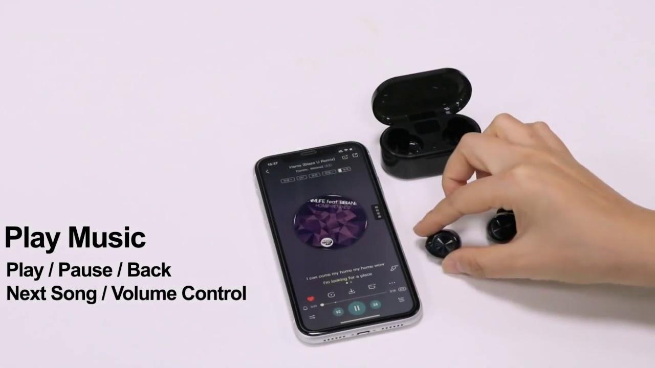 TWS Bluetooth 5.0 Wireless Smart Touch Control Earbuds TWS-07